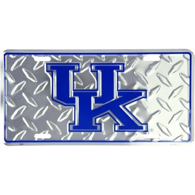 Kentucky Wildcats Merchandise - Diamond Plate Auto Tag