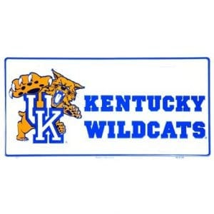 Kentucky Wildcats Mascot License Plate
