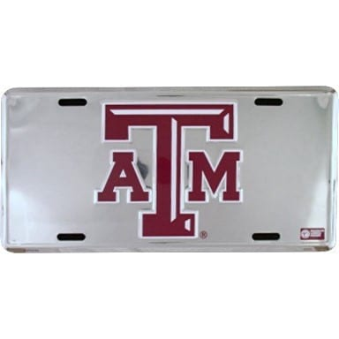 Texas A&M Aggies Merchandise - Chrome License Plate
