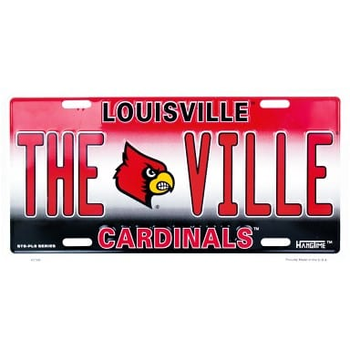 Louisville Cardinals Merchandise - The Ville License Plate