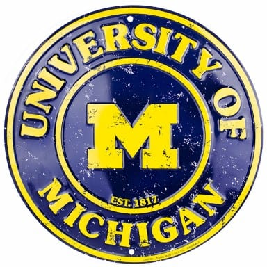 Michigan Wolverines Merchandise - Circle Sign