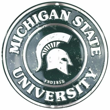 Michigan State Spartans Merchandise - Circle Sign
