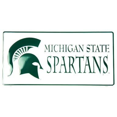 Michigan State Spartans Merchandise - White License Plate