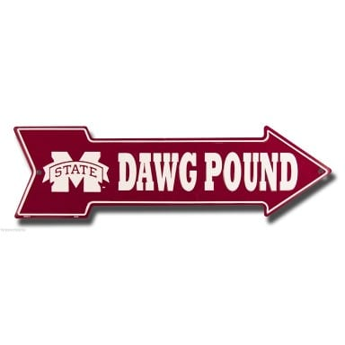Mississippi State Bulldogs Arrow Sign