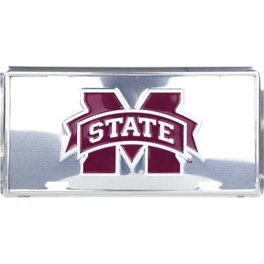 Mississippi State Bulldogs Chrome License Plate