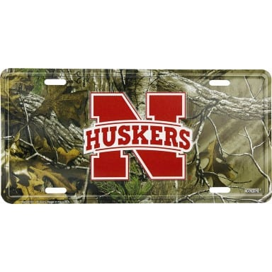 Nebraska Cornhuskers Camo License Plate
