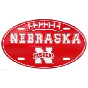 Nebraska Cornhuskers Oval License Plate