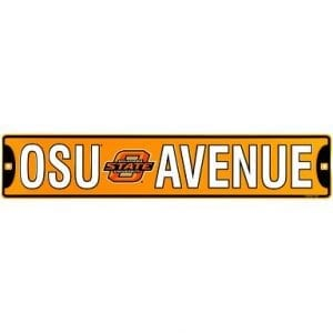 Oklahoma State Cowboys Street Sign