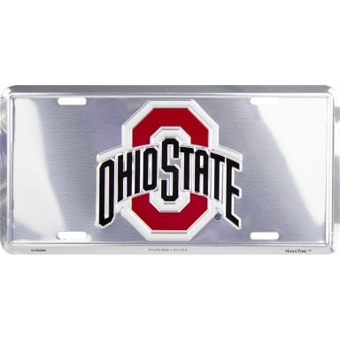 Ohio State Buckeyes Chrome License Plate