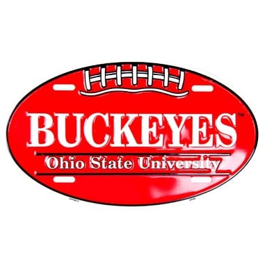 Ohio State Buckeyes Oval License Plate