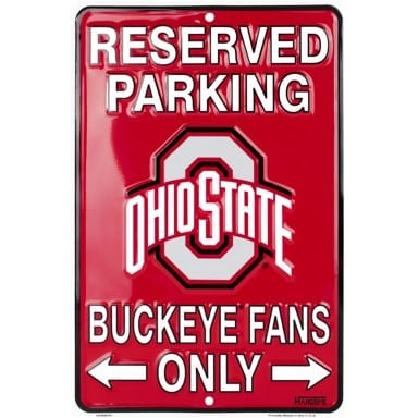 Ohio State Buckeyes Merchandise - Parking Sign