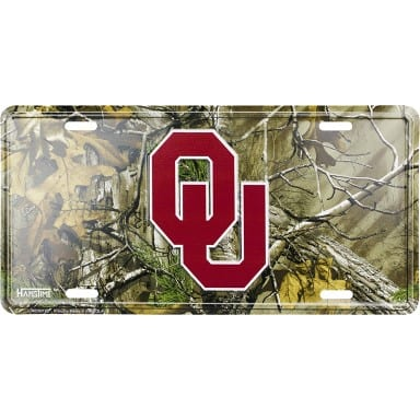 Oklahoma Sooners Merchandise - Realtree License Plate