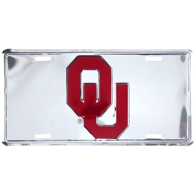 Oklahoma Sooners Merchandise - Chrome License Plate