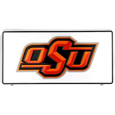 Oklahoma State Cowboys OSU License Plate