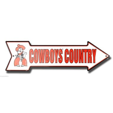 Oklahoma State Cowboys Arrow Sign
