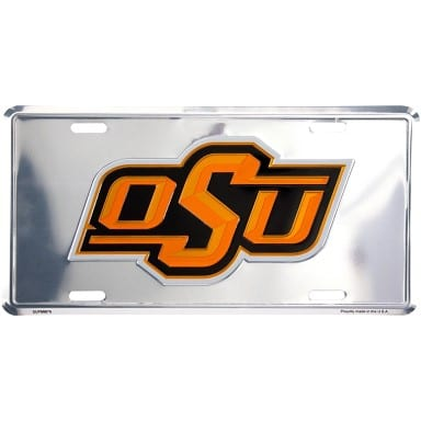 Oklahoma State Cowboys Merchandise - Chrome License Plate