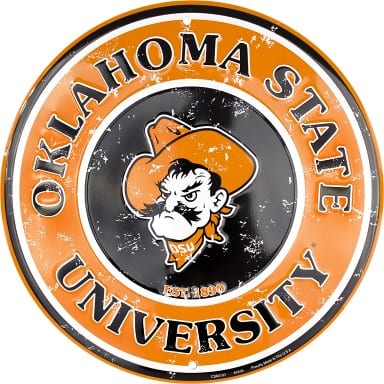 Oklahoma State Cowboys Circle Sign