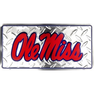 Ole Miss Rebels Merchandise - Diamond Plate Auto Tag