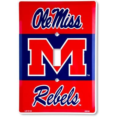 Ole Miss Rebels Light Switch Cover