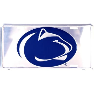 Penn State Nittany Lions Chrome License Plate