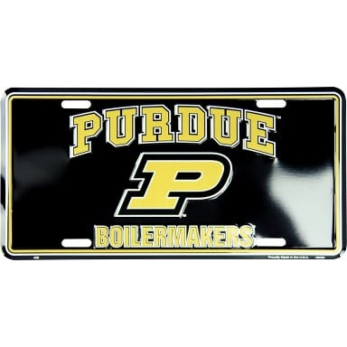 Purdue Boilermakers Black License Plate