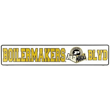 Purdue Boilermakers Street Sign