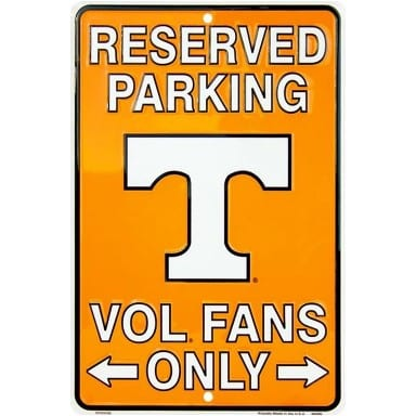 Tennessee Volunteers Merchandise - Parking Sign