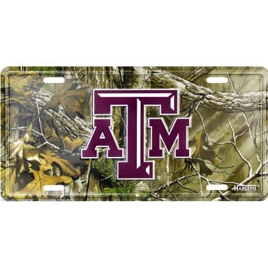 Texas A&M Aggies Merchandise - Camo License Plate