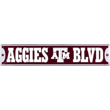 Texas A&M Aggies Street Sign
