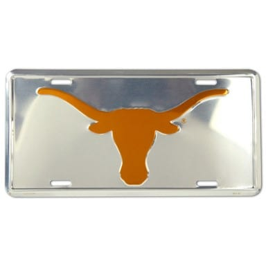 Texas Longhorns Merchandise - Chrome License Plate