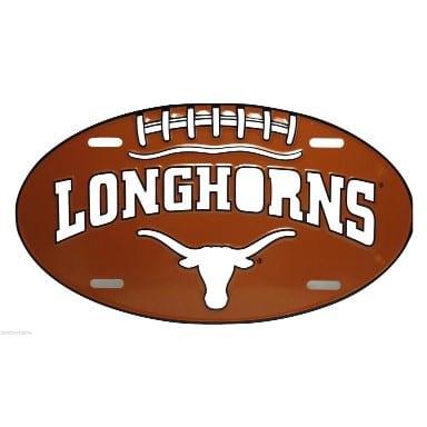 Texas Longhorns Merchandise - Oval License Plate
