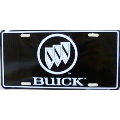 Buick Black License Plate