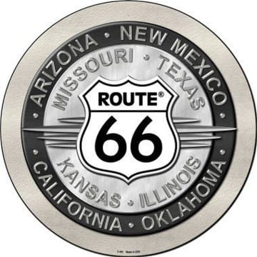 Route 66 States Circle Sign