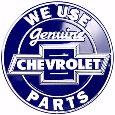 Chevrolet Merchandise - Genuine Chevrolet Parts Circle Sign