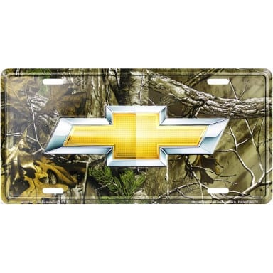 Chevrolet Merchandise - Realtree Camo License Plate