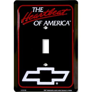 Chevy Heartbeat Black Light Switch Cover