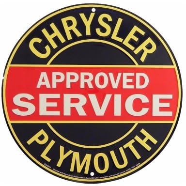 Chrysler Plymouth Merchandise - Approved Service Sign