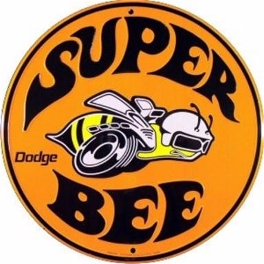 Dodge Merchandise - Super Bee Circle Sign