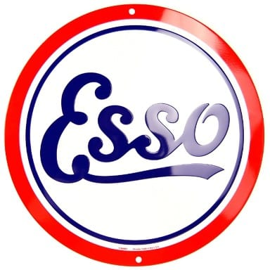 Esso Oil and Gasoline Circle Sign