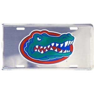 Florida Gators Chrome License Plate
