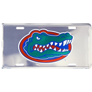 Florida Gators Merchandise - Chrome License Plate