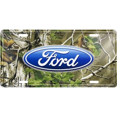 Ford Realtree Camo License Plate