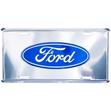 Ford Chrome License Plate