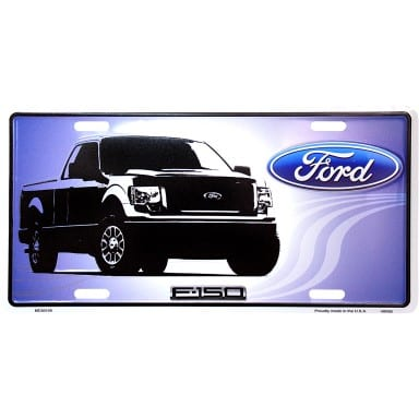 Ford F-150 Truck License Plate