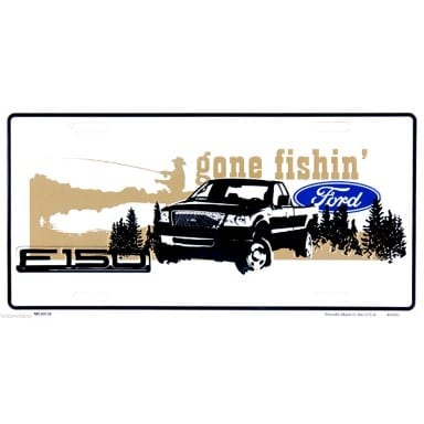 Ford F-150 Gone Fishin License Plate