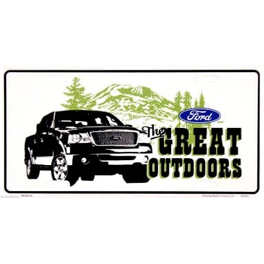 Ford Merchandise - The Great Outdoors License Plate