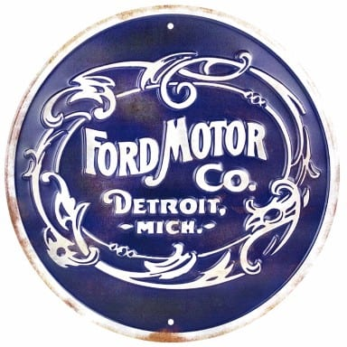 Ford Motor Detroit Circle Sign