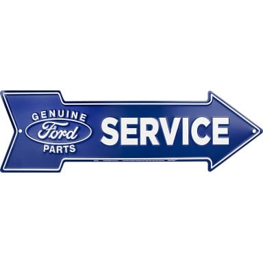 Ford Parts Service Arrow Sign