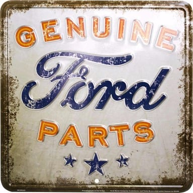 Genuine Ford Parts Rustic Parking Sign