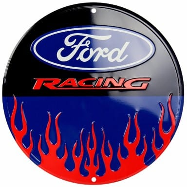 Ford Merchandise - Racing Flames Circle Sign